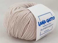 Lana Gatto Super Soft (13701 экрю) 100% меринос экстрафайн 50 г/125 м фото
